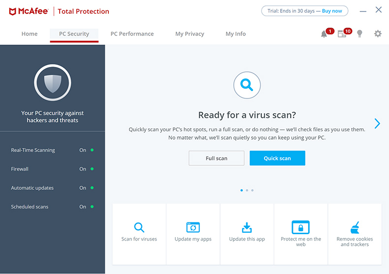 McAfee Total Protection - Seguridad para PC