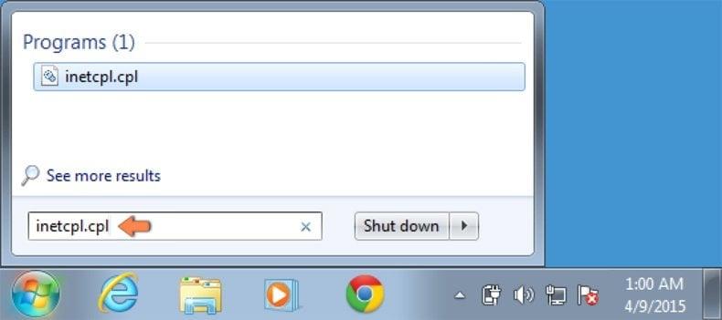 Cómo restablecer la configuración predeterminada de Internet Explorer en Windows 7