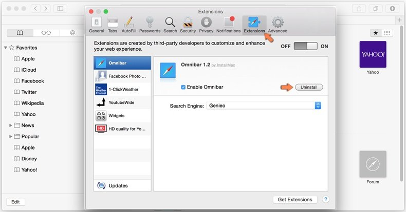 eliminar browser hijacker de Safari - 2