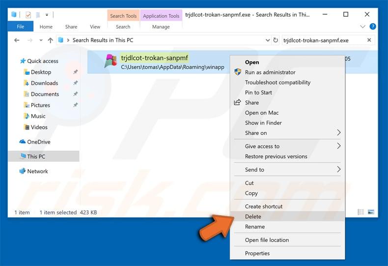 Recherche de fichiers malveillants sur votre ordinateur