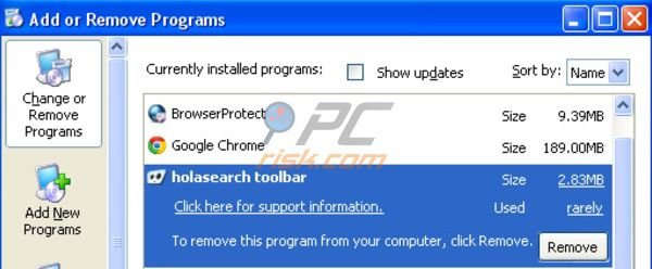 desinstalar Hola Search Toolbar