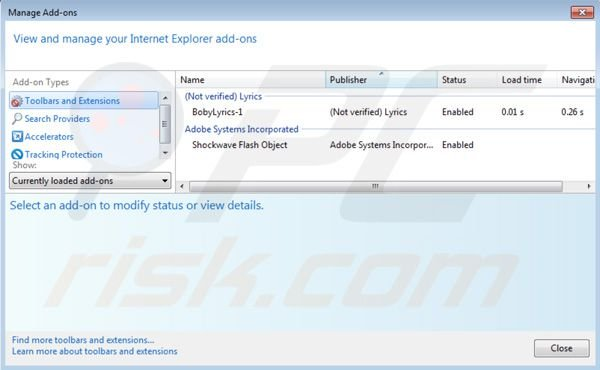 Eliminar Nav Links de Internet Explorer