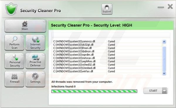 Paso 4 para eliminar Security Cleaner Pro