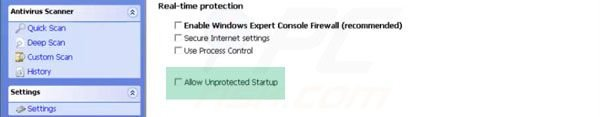 Arranque desprotegido Windows Expert Console