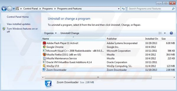 desinstalar Zoom downloader