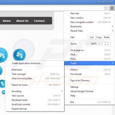 Eliminando la aplicación safeweb de Google Chrome paso 1