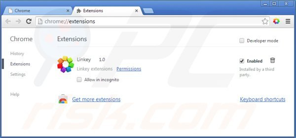 Eliminando el secuestrador de navegadores default-search.net de las extensiones de Google Chrome