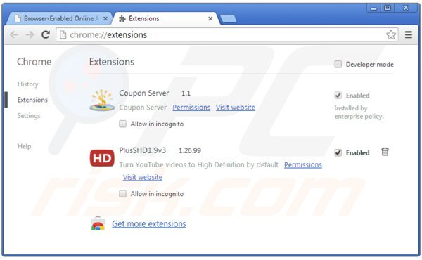 Eliminando los anuncios de Online Advertising Support de Google Chrome paso 2