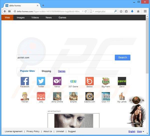 secuestrador de navegadores delta-homes.com