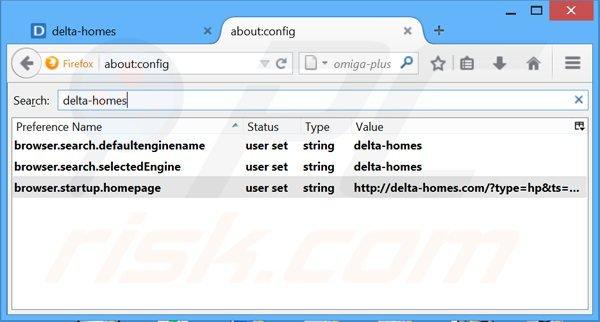 Eliminar delta-homes.com del motor de búsqueda por defecto de Mozilla Firefox