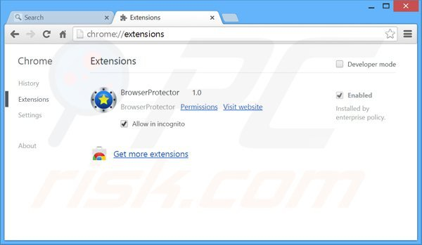 Eliminando las extensiones relacionadas con search.safefinder.com de Google Chrome