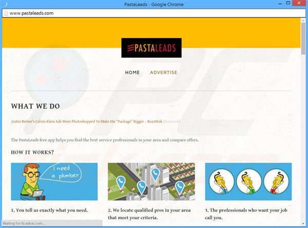 PastaLeads adware