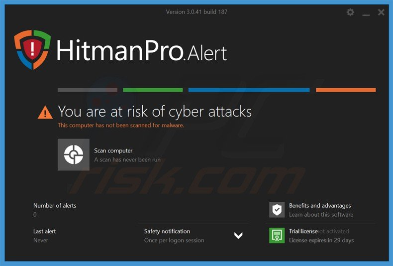 la aplicación hitmanproalert que protege del ransomware