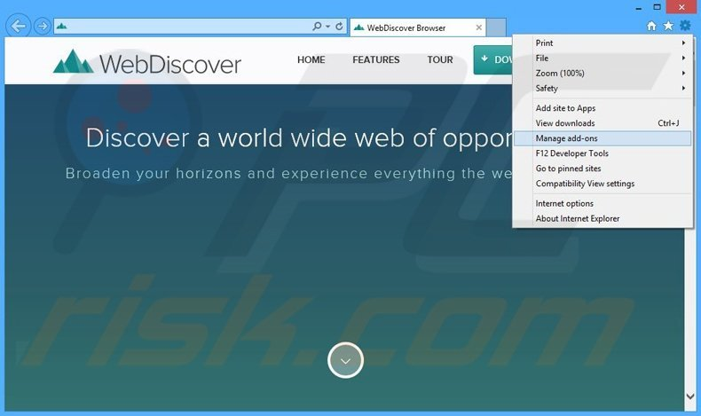how to turn off webdiscover