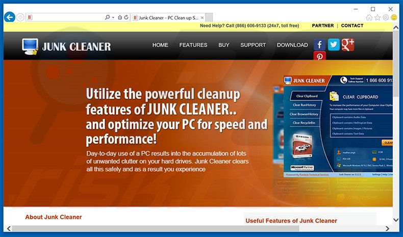Junk Cleaner adware
