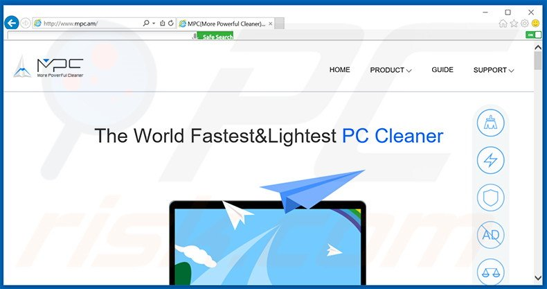 software publicitario MPC Cleaner