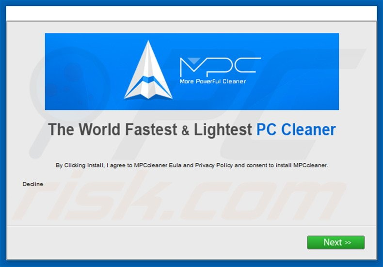 Asistente que incluye el software MPC Cleaner