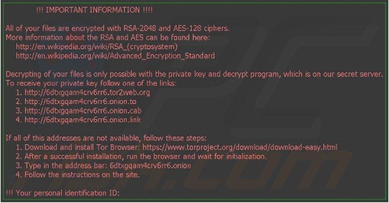instrucciones desencriptación Locky