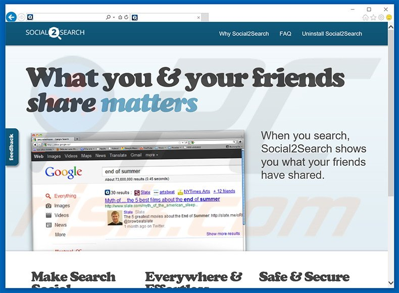 software publicitario de Social2Search