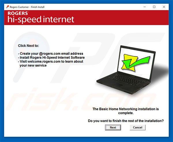 Rogers Hi-Speed Internet installer