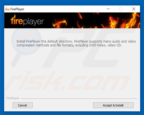 Instalador del software publicitario FirePlayer