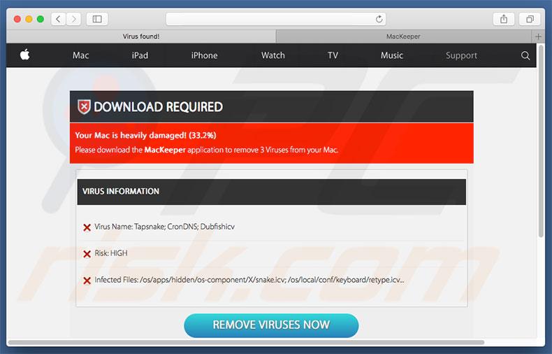 Cómo deshacerse de Estafa We Have Detected A Trojan Virus Scam (Mac