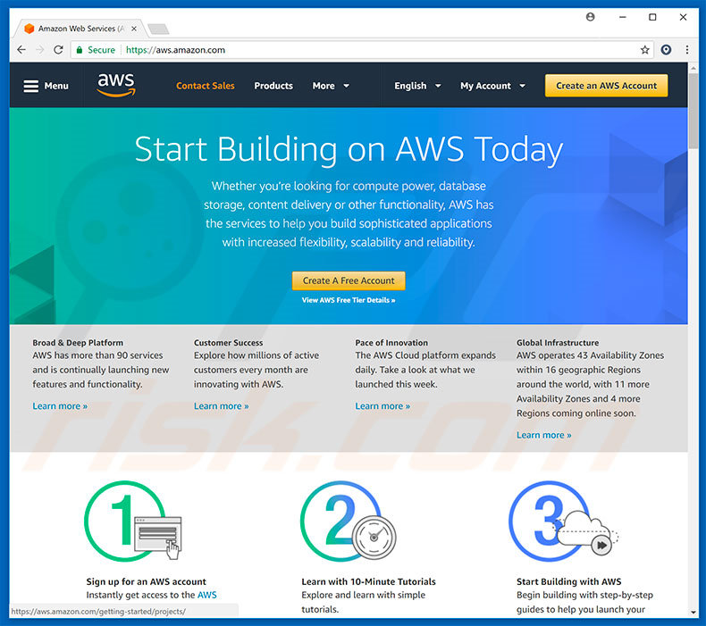 redireccionamientos a Amazon AWS