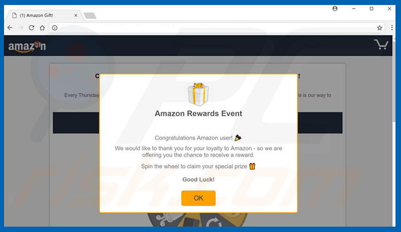 Amazon Gift Card adware