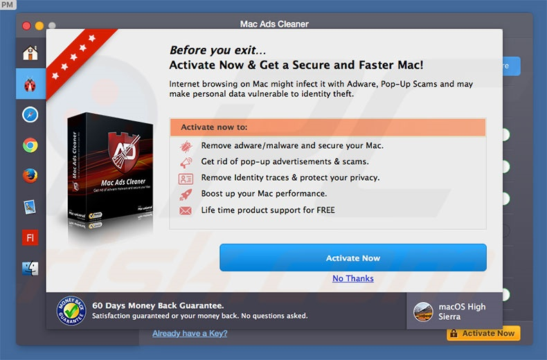 Mac Ads Cleaner adware