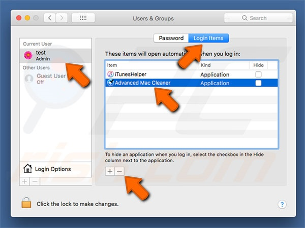 preferencias del sistema Mac Adware Cleaner