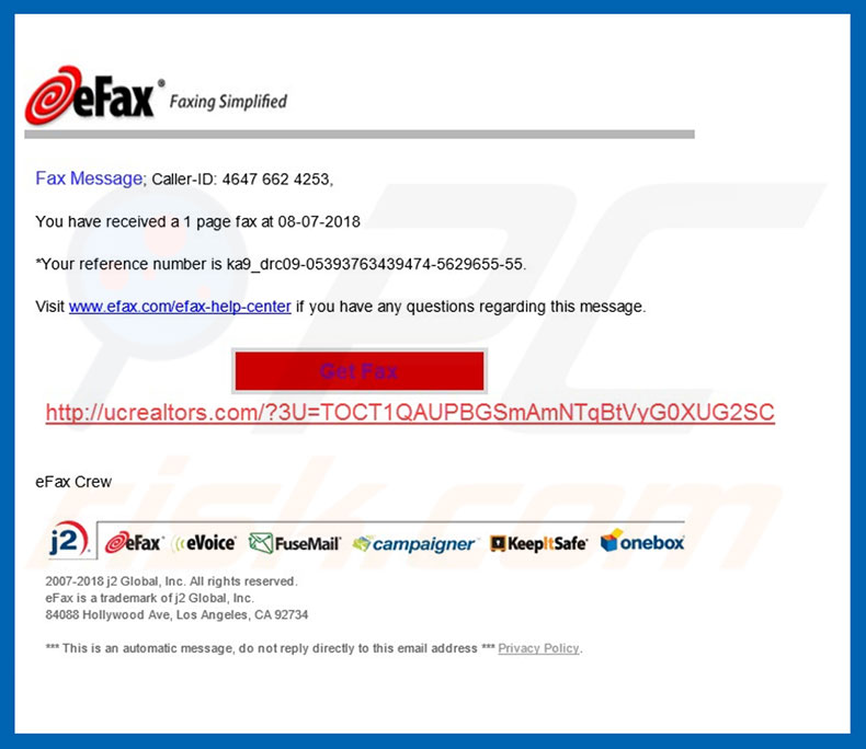 Hancitor trojan promoting email spam campaign