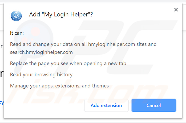 Secuestrador de navegador My Login Helper