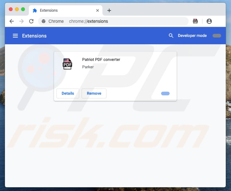 extensión Patriot PDF Converter en Chrome