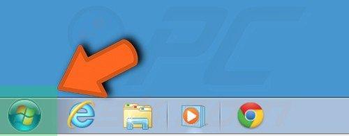 botón de inicio en Windows 7